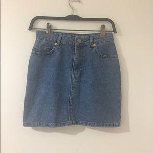 ASOS mini denim skirt